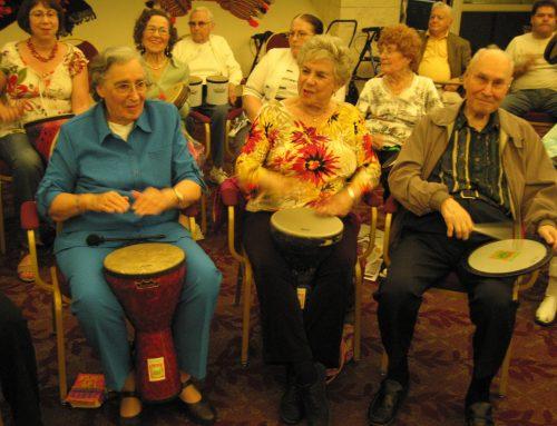 Seniors get in rhythm with DRUMMM!